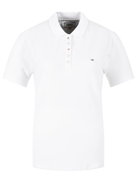 Tommy Jeans Tommy Jeans Tricou polo Original DW0DW04434 Alb Regular Fit