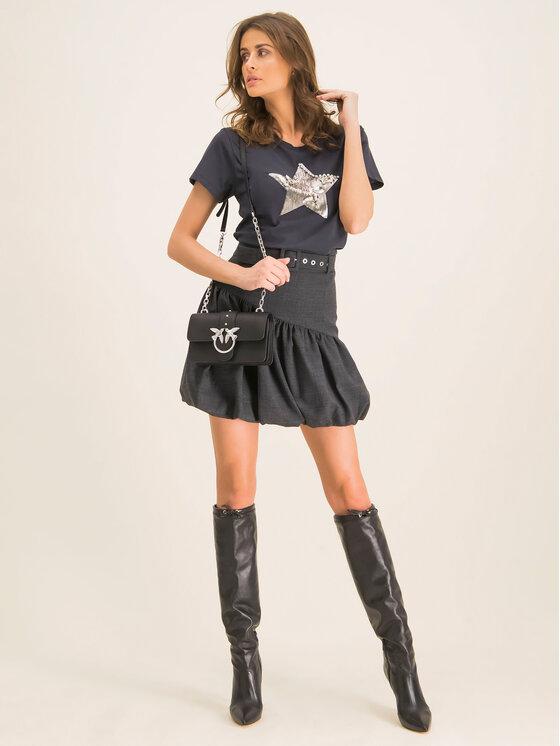 Pinko Pinko T-Shirt Radiare 19-20 BLK01 1G14H3 Y5BD Μαύρο Regular Fit