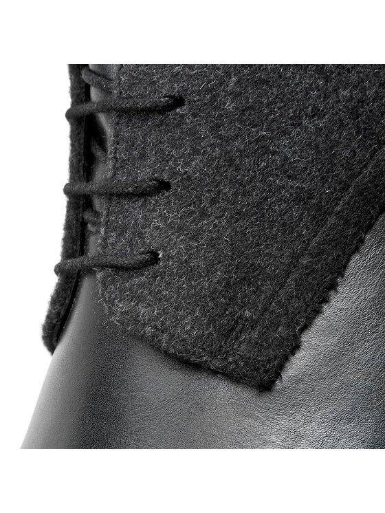 Strellson Strellson Kozaki New Brownie High Lace I Calf 4010002005 Czarny
