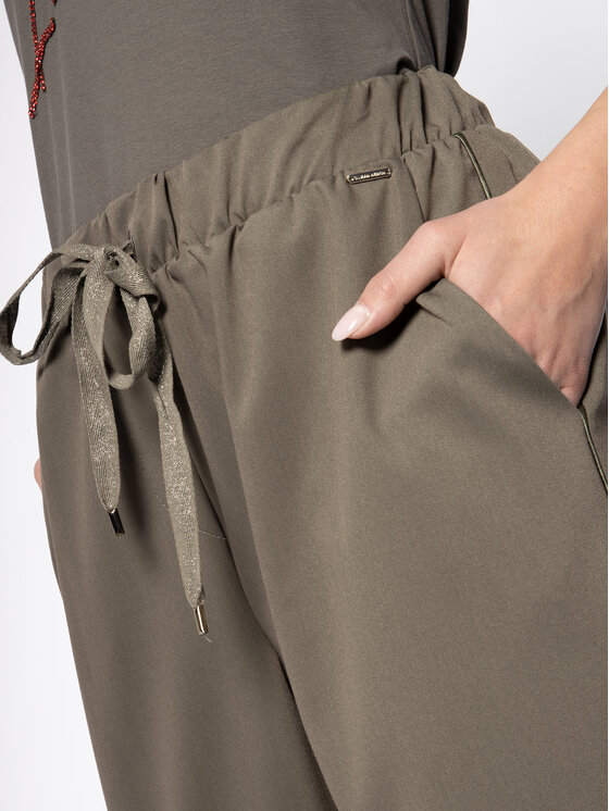 Silvian Heach Silvian Heach Spodnie materiałowe Marianne PGP20691PA Zielony Regular Fit