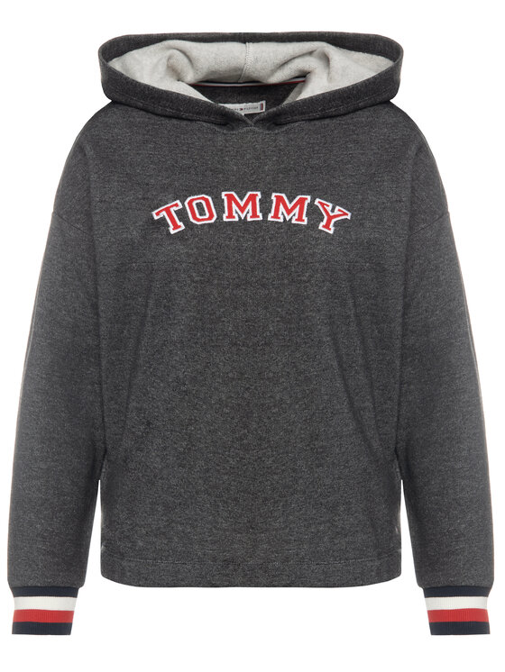 Tommy Hilfiger Tommy Hilfiger Bluza Batwing UW0UW01961 Szary Regular Fit