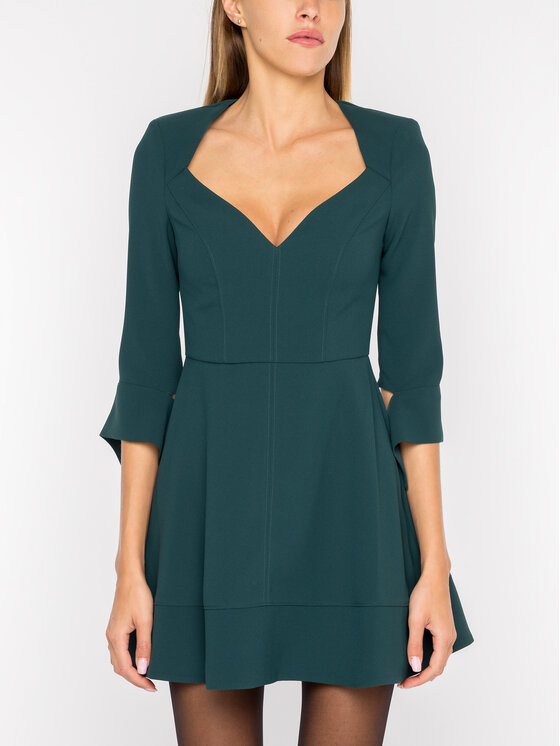 Elisabetta Franchi Elisabetta Franchi Коктейлна рокля AB-949-96E2-V239 Зелен Regular Fit