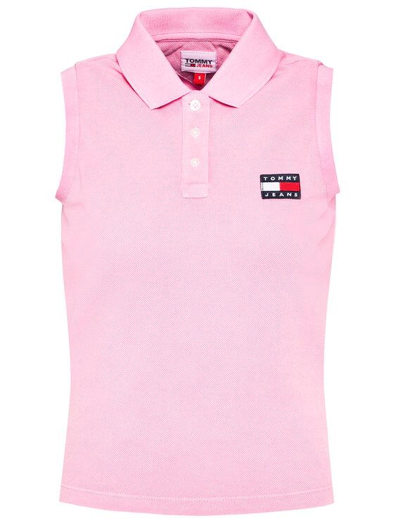 Tommy Jeans Tommy Jeans Polo DW0DW10119 Różowy Regular Fit