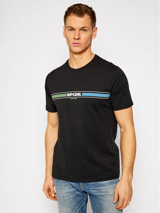 Rip Curl Marškinėliai Mama Horizon CTEQK5 Juoda Standard Fit
