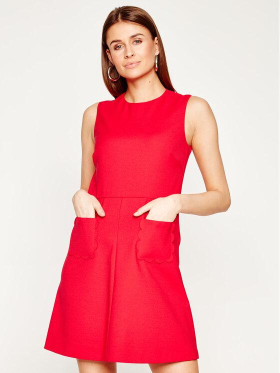 Red Valentino Kasdieninė suknelė TR3VAM15 Raudona Slim Fit
