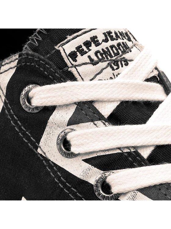 Pepe Jeans Pepe Jeans Tenisówki Industry Flag Low PMS30118 Czarny