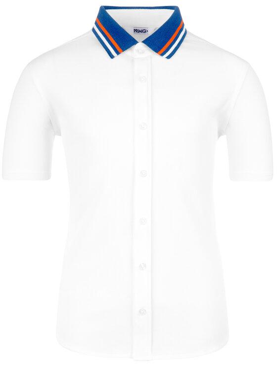 Primigi Primigi Риза Comicia Mm Piquet 43252001 Бял Regular Fit