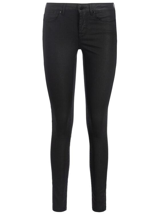 Guess Guess Kožené kalhoty Jegging Mid W93A03 D3OZ0 Černá Slim Fit