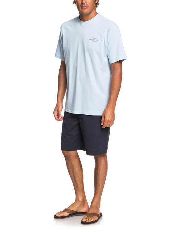 Quiksilver Quiksilver Bavlnené šortky EQMWS03076 Tmavomodrá Regular Fit