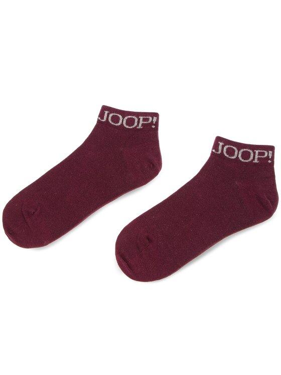 Joop! Joop! Súprava 2 párov členkových pánskych ponožiek Logo Sneaker 900.065-1 Bordová