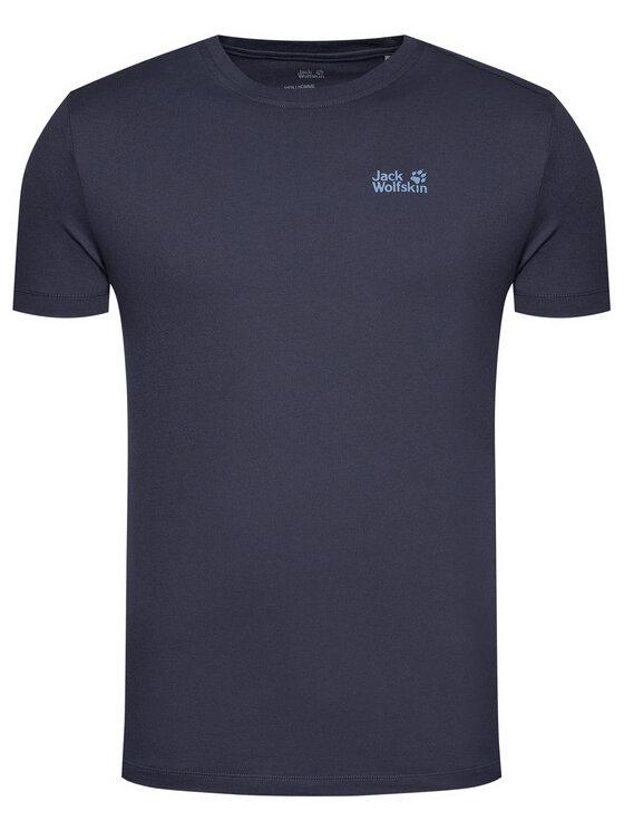 Jack Wolfskin Jack Wolfskin T-Shirt Essential T 1805781 Granatowy Regular Fit
