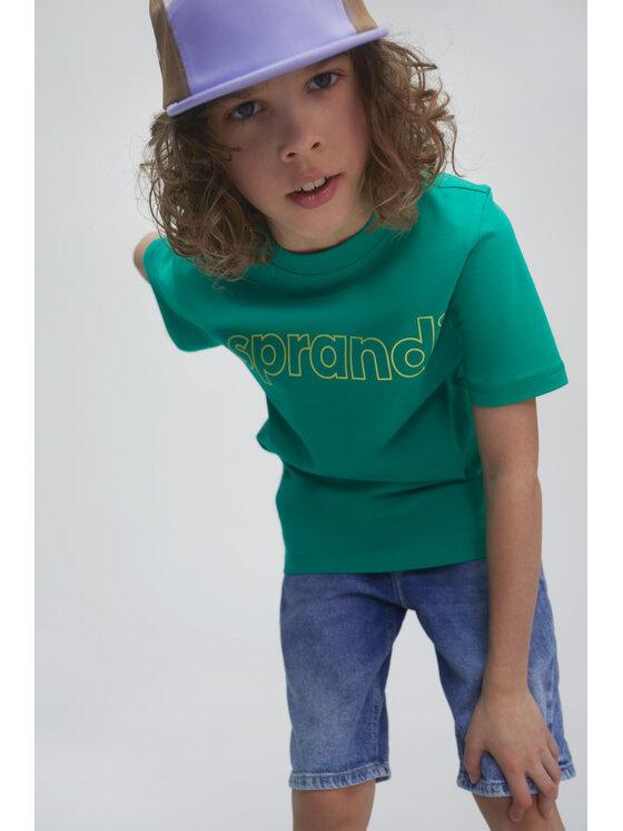 Sprandi Sprandi T-Shirt SS21-TSB002 Zielony Regular Fit