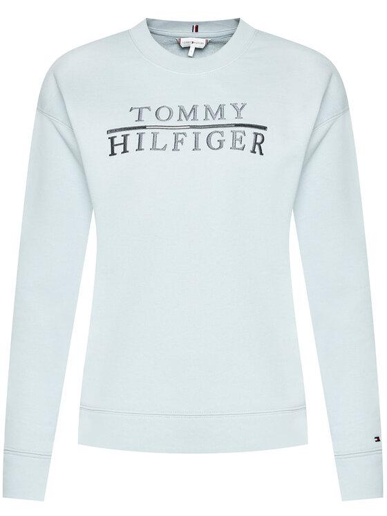 Tommy Hilfiger Tommy Hilfiger Mikina Logo Emroidery WW0WW29246 Modrá Relaxed Fit