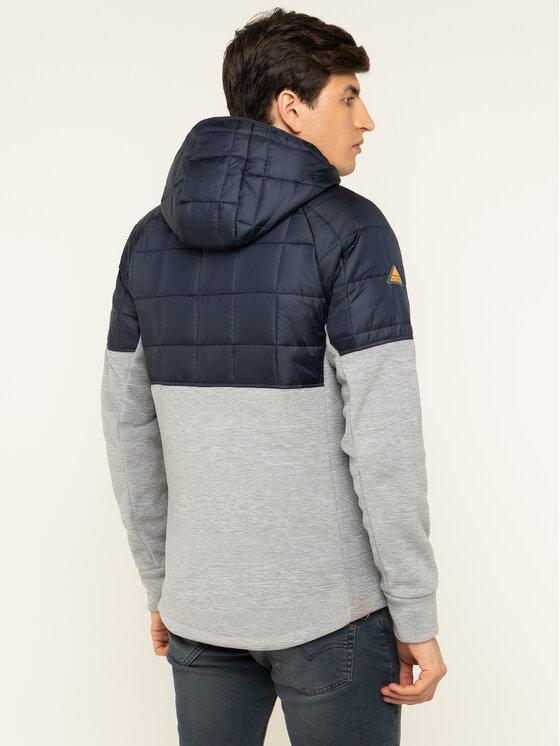 Superdry Superdry Átmeneti kabát Polar Fleece Hybrid M2000118A Sötétkék Regular Fit