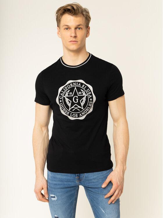 Guess Guess T-Shirt M01I83 K46D0 Černá Slim Fit