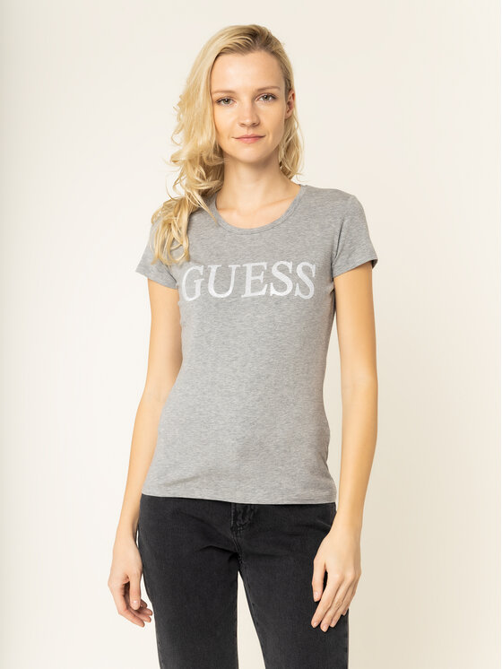 Guess Guess T-shirt Crystal W01I74 J1300 Grigio Regular Fit