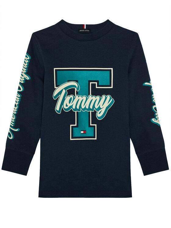 Tommy Hilfiger Bluzka Fun Varsity KB0KB06104 D Granatowy Regular Fit