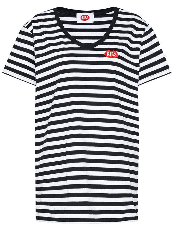 PLNY LALA PLNY LALA T-Shirt Petite Kiss PL-KO-VN-00102 Kolorowy French Fit