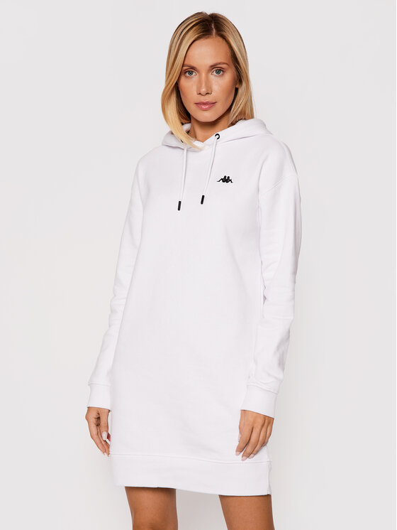 Kappa Kappa Džemper haljina Jamala 310023 Bijela Regular Fit
