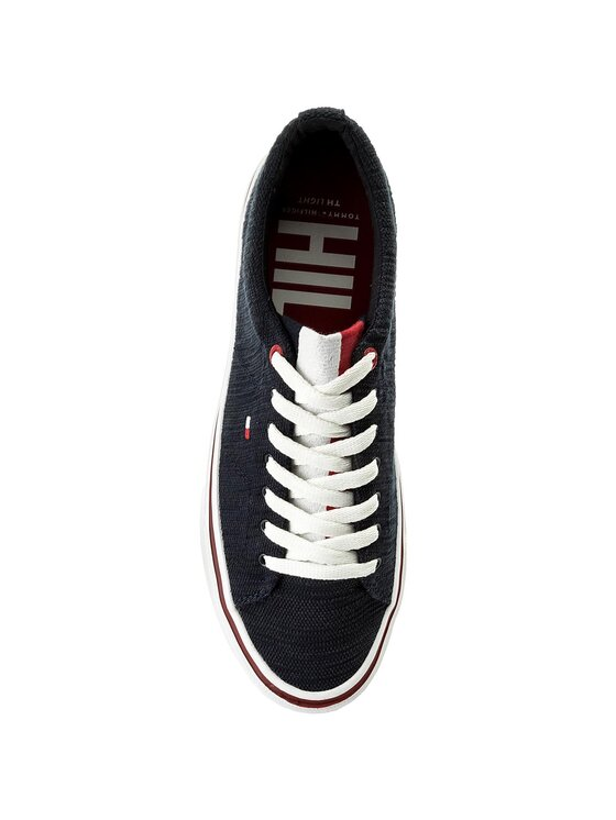 Tommy Hilfiger Tommy Hilfiger Sportbačiai Lightweight Knit Sneaker FM0FM01349 Tamsiai mėlyna