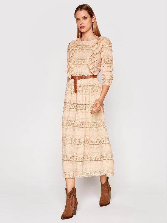 Rinascimento Kasdieninė suknelė CFC0102173003 Smėlio Regular Fit