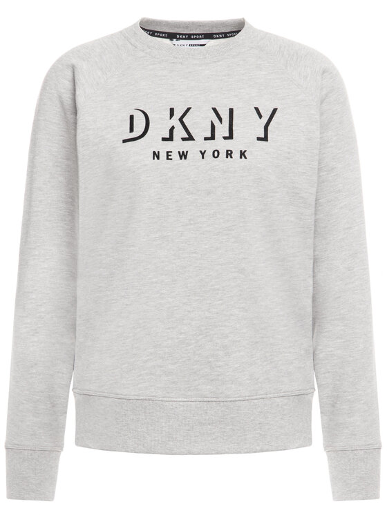 DKNY Sport DKNY Sport Суитшърт DP9T7096 Сив Regular Fit