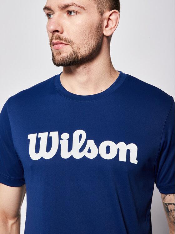 Wilson Wilson Koszulka techniczna Uwii Script Tech Tee WRA770309 Granatowy Regular Fit