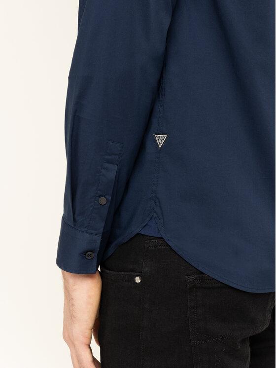 Guess Guess Риза M01H25 W7ZK0 Тъмносин Regular Fit
