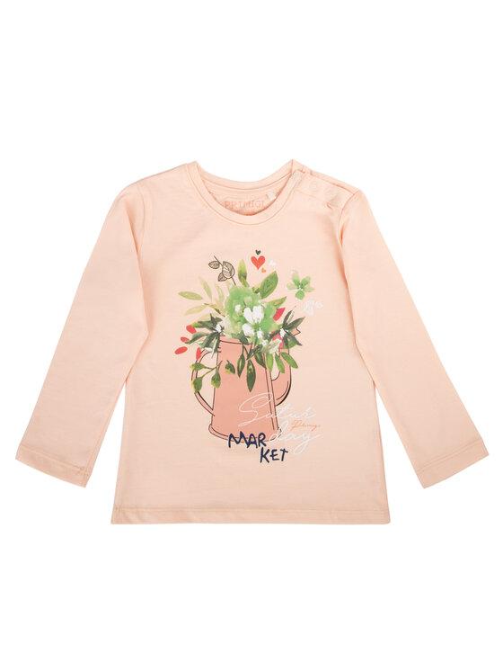 Primigi Primigi Bluzka T-Shirt Ml Jersey Elast Różowy Regular Fit