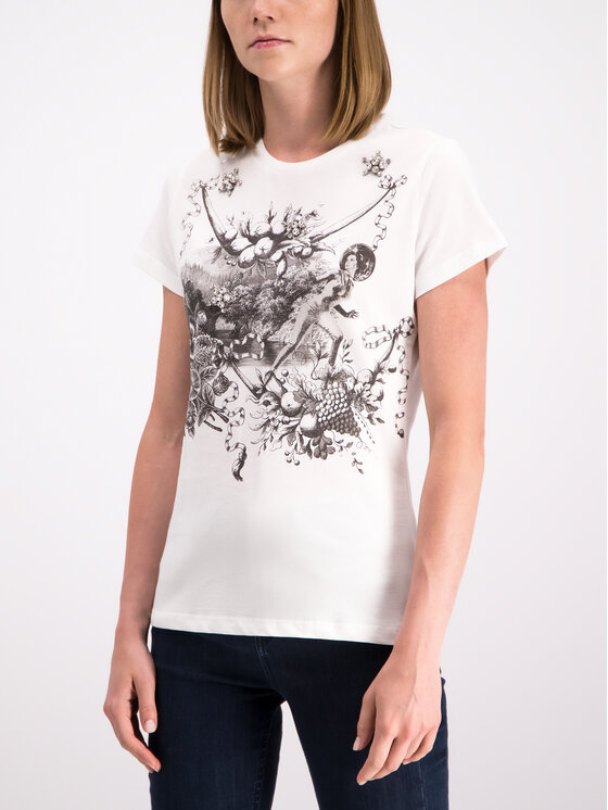 Pinko Pinko T-Shirt 20192 PBK2 1B1480 Y5BD Biały Regular Fit