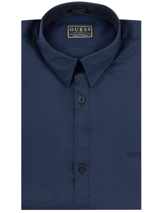 Guess Guess Chemise M01H25 W7ZK0 Bleu marine Regular Fit