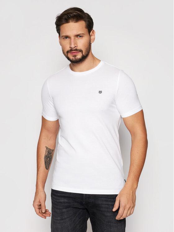 Jack&Jones PREMIUM Marškinėliai Blahardy 12166527 Balta Slim Fit