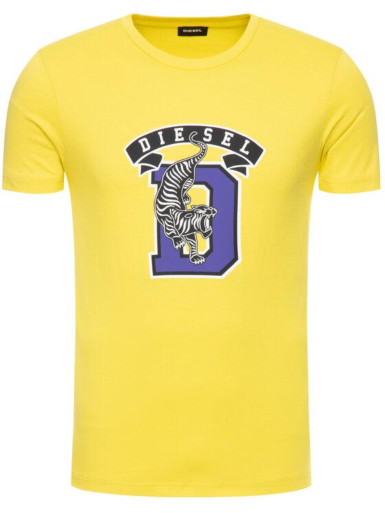 Diesel Diesel T-Shirt T-Diego-B4 00SXMJ 0091A Κίτρινο Regular Fit