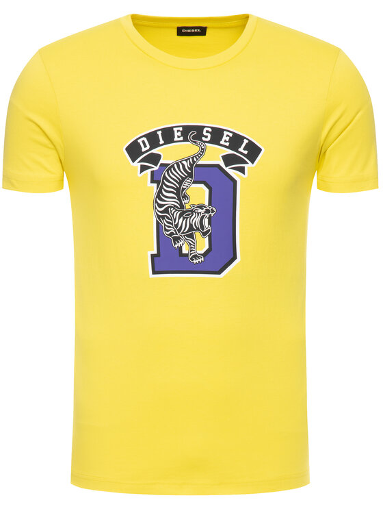 Diesel Diesel T-Shirt T-Diego-B4 00SXMJ 0091A Żółty Regular Fit