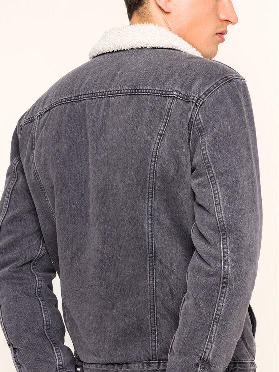 Levi's® Levi's® Džínsová bunda Sherpa Trucker 16365-0121 Čierna Regular Fit
