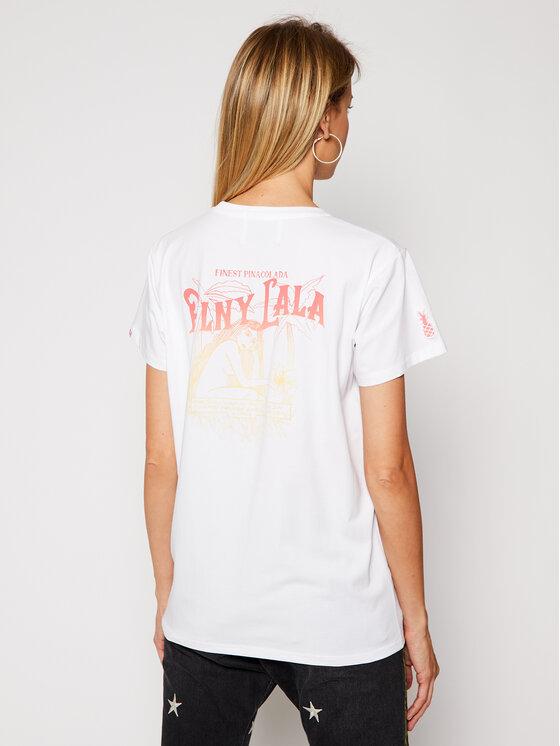 PLNY LALA PLNY LALA T-Shirt Pina Colada 00184 Biały Classic Fit