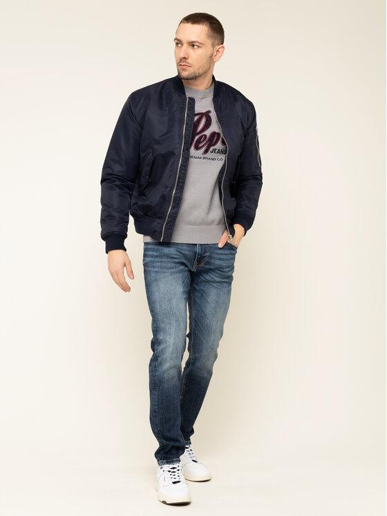 Pepe Jeans Pepe Jeans Pullover Gabriel PM701973 Grau Regular Fit