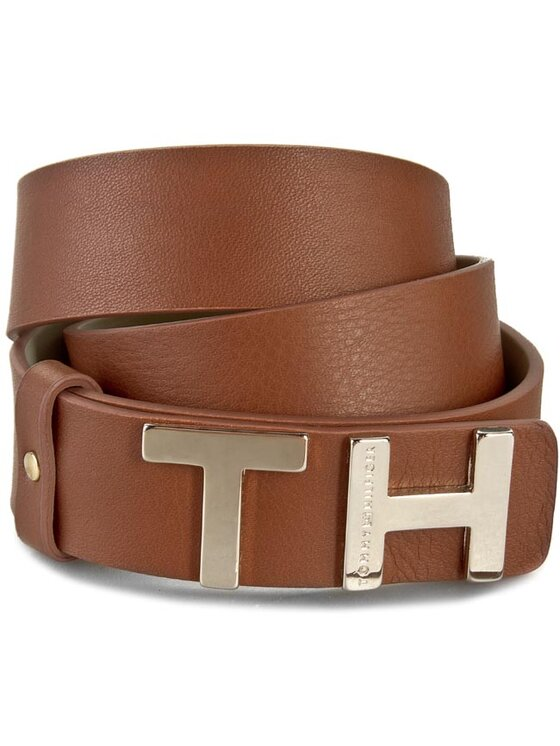 Tommy Hilfiger Tommy Hilfiger Cintura da donna The Belt 3,0 AW0AW01611 75 Marrone