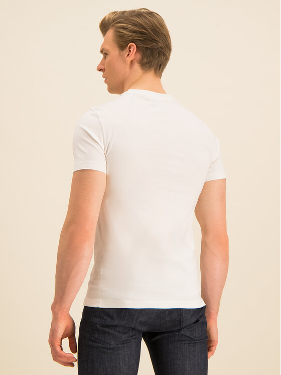 Lacoste Lacoste T-Shirt TH8614 Biały Regular Fit
