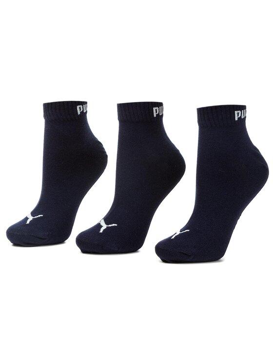Puma Puma Комплект 3 чифта къси чорапи унисекс 271080001 Тъмносин