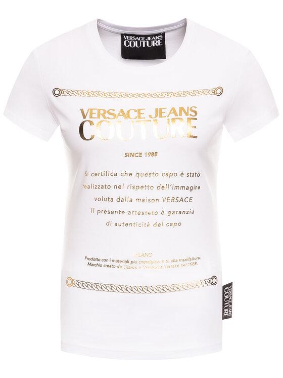 Versace Jeans Couture Versace Jeans Couture Marškinėliai B2HVA7T1 Balta Regular Fit