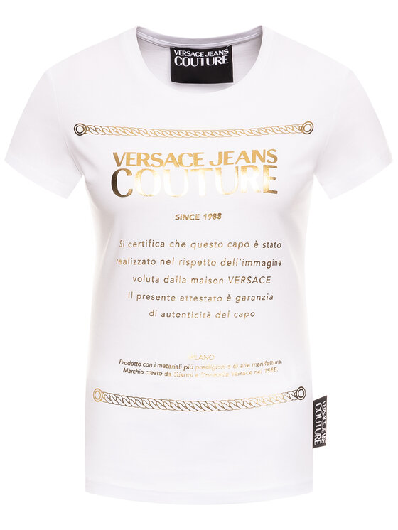 Versace Jeans Couture Versace Jeans Couture T-Shirt B2HVA7T1 Biały Regular Fit