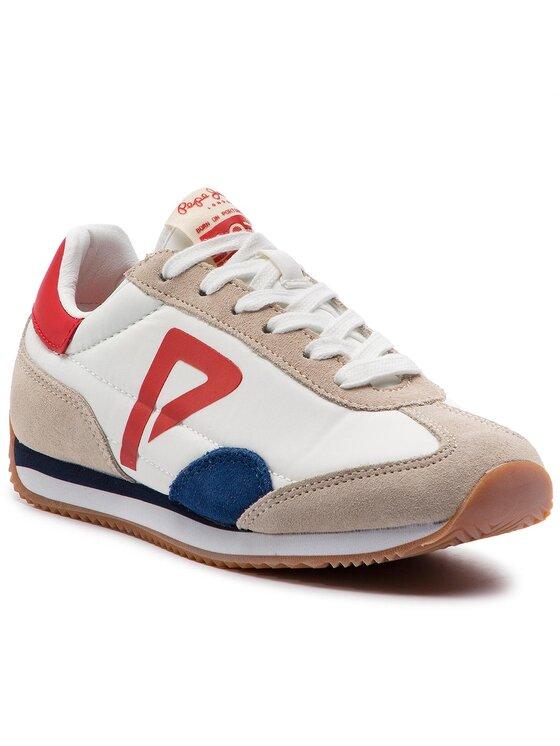 Pepe Jeans Pepe Jeans Sneakersy Tahiti Retro Junior PBS30390 Biela