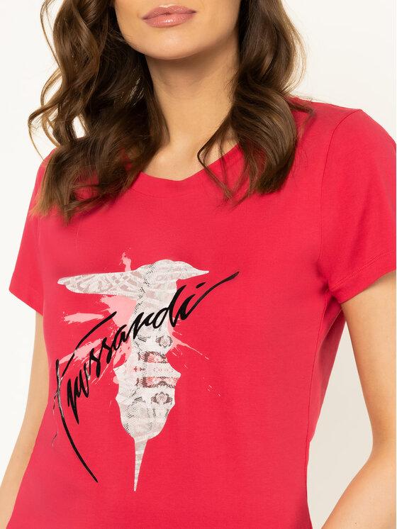 Trussardi Trussardi T-Shirt 56T00256 Różowy Slim Fit