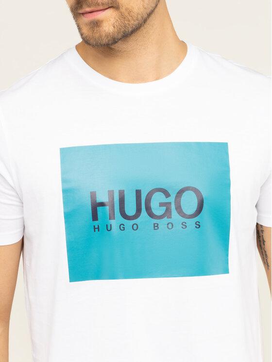 Hugo Hugo Тишърт Dolive201 50422155 Бял Regular Fit