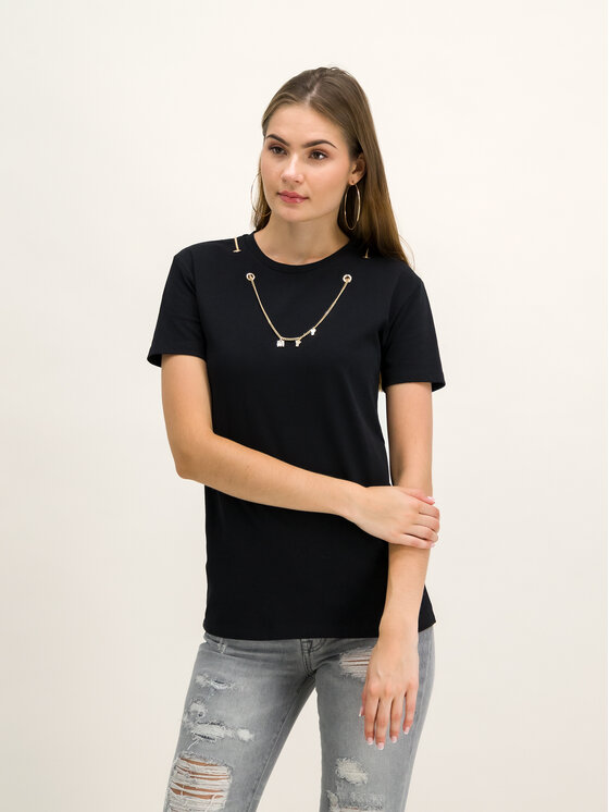 My Twin My Twin T-Shirt 192MT2380 Μαύρο Regular Fit