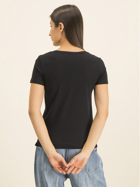 Guess Guess Marškinėliai Basic Triangle Tee W01I98 JA900 Juoda Slim Fit