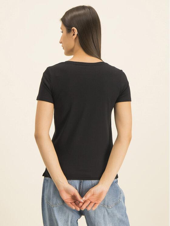 Guess Guess T-Shirt Basic Triangle Tee W01I98 JA900 Μαύρο Slim Fit