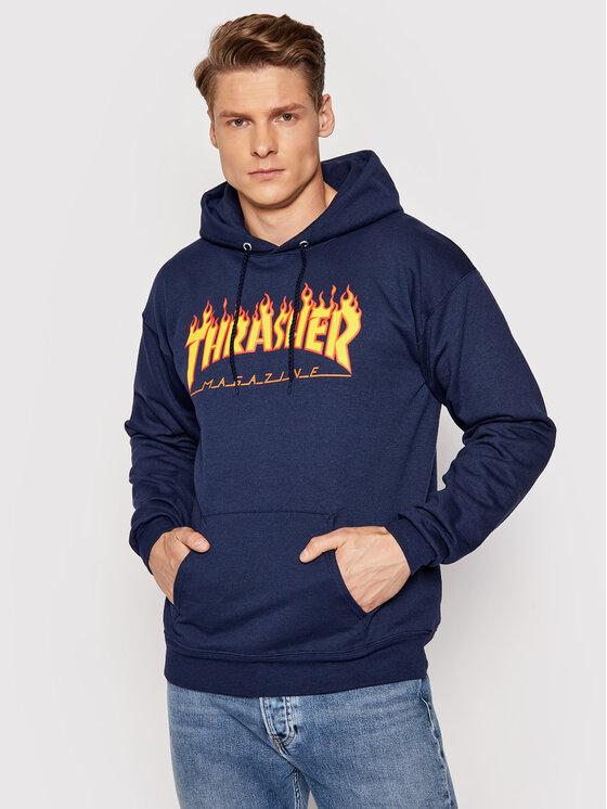 Thrasher Džemperis Flame Tamsiai mėlyna Regular Fit
