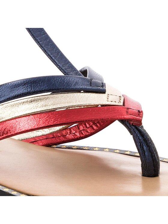 Tommy Hilfiger Tommy Hilfiger Japonki Corporate Flat T-Bar Sandal FW0FW02818 Granatowy